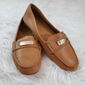 **Coach Fredrica Size 7.5 Brown Pebble Loafers